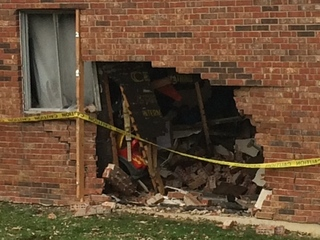 Car slams into garage in Colerain Township