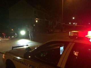 Shooting victim crashes on his way to hospital