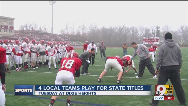Official Dixie Heights Football State Championship Trinity 47
