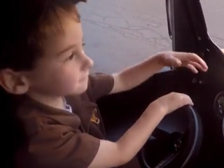 WATCH: Boy has wish fulfilled by UPS driver