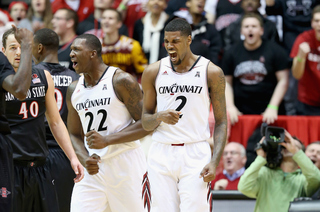 PHOTOS: Cincinnati beats No. 19 SDSU 71-62 in OT
