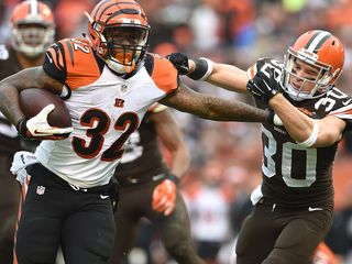 Hiil carries load on Bengals' run for playoffs