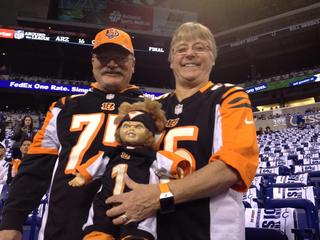 Bengals versus Colts pre-game from Indianapolis
