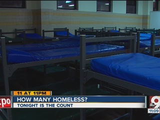 City, county hold homeless count overnight