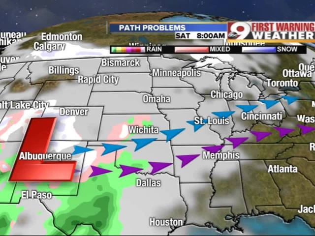 FIRST WARNING: Significant snow possible Sunday