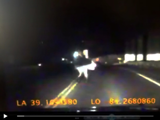 WATCH: Dashcam catches near-miss with pedestrian