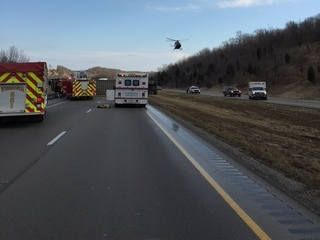 PHOTOS: Fatal wreck shuts down I-71 in N.Ky.