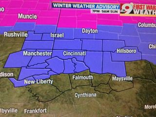 Winter Weather Advisory for most of Tri-State