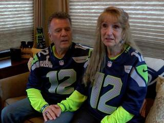 Woman gives lucky couple Super Bowl tickets