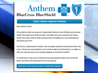 BEWARE: Anthem customers hit with tricky scam
