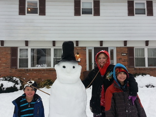 Snowmen pop up all over the Tri-State Saturday