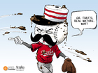CARTOON: Mat Latos, former Red and poor sport?