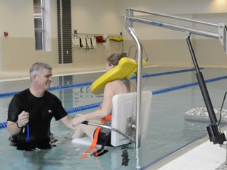 Aquatic therapy center helps patients get moving