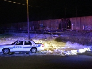 Person hospitalized after being hit by train