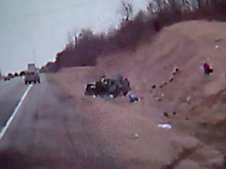 WATCH: Spectacular SUV rollover caught on video