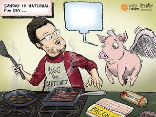 CAPTION THIS CARTOON: National Pig Day