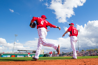 Baseball's back: Reds play first exhibition