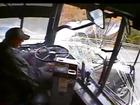VIDEO: Bus driver sleeps, causes major crash