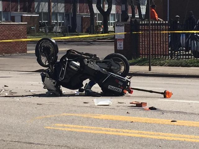 Retired cop critically hurt in procession crash