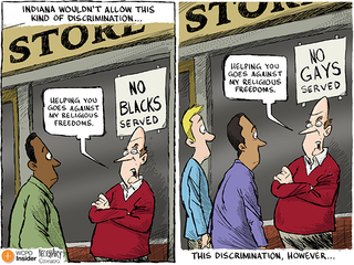 Cartoon: Is discrimination now legal in Indiana?