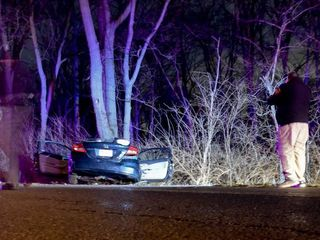 Car hits tree, injuring four in Butler County