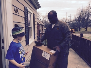 UPS man delivers friendship to boy with autism