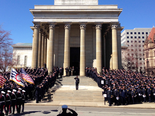 PHOTOS: Firefighter's funeral packs cathedral