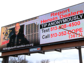 Billboards fuel 'dramatic' uptick in heroin tips