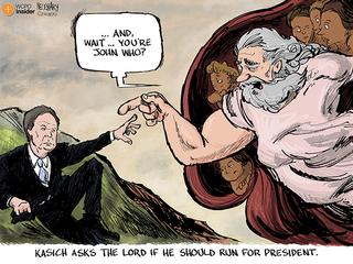 Cartoon: Is God a Republican?