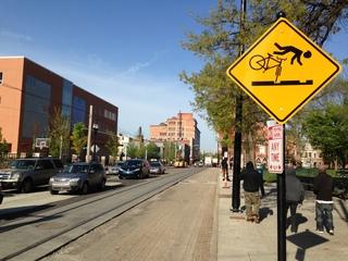 DANGER: Streetcar rails hazardous to cyclists