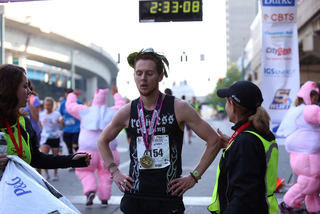 And they're of! Flying Pig Marathon 2015