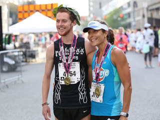 Flying Pig: At the start & finish lines