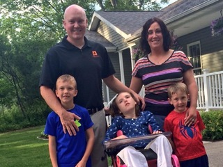 Family gifted with modified minivan for daughter