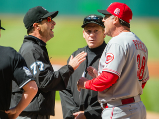WATCH: Reds manager ejected before game starts