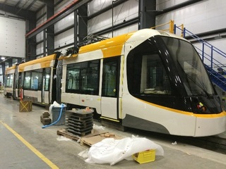 Streetcar assembly running behind schedule