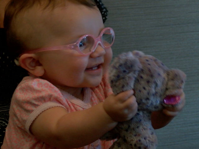 Viral video of baby s first time in glasses means two charitable