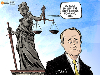 Cartoon: Justice may be blind but...