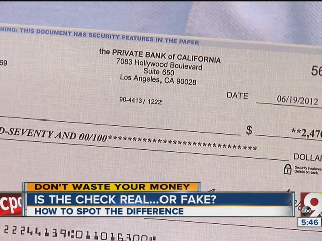 how to tell if a check is real or fake