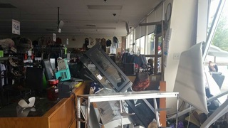 Milford storefront wrecked in car crash