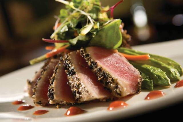 sesame seared tuna with lime ginger vinaigrette steamy kitchen sesame ...