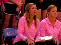 Team rallies around coach with breast cancer