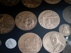Counterfeit gold and silver coins burning buyers