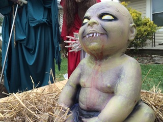 Zombie manger scene causes uproar in Ohio town