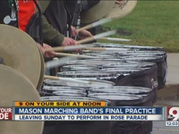 Mason marching band preps for Rose Parade