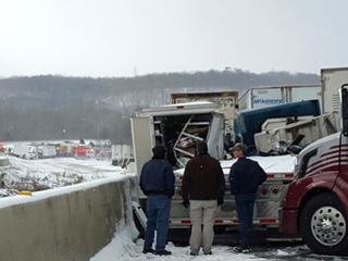 PHOTOS: Massive pileup on I-74 near Indiana-Ohio