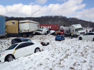 Photo: Massive pileup on Ohio-Indiana border