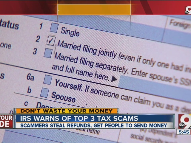 IRS warns of top 3 tax scams