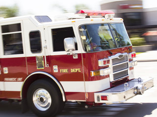 Firefighters rescue 3 dogs from burning house
