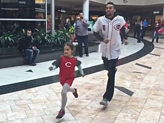 WATCH: Young girl beats Reds speedster in race