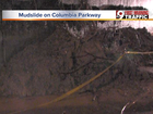 Columbia Parkway opens after overnight mudslide
